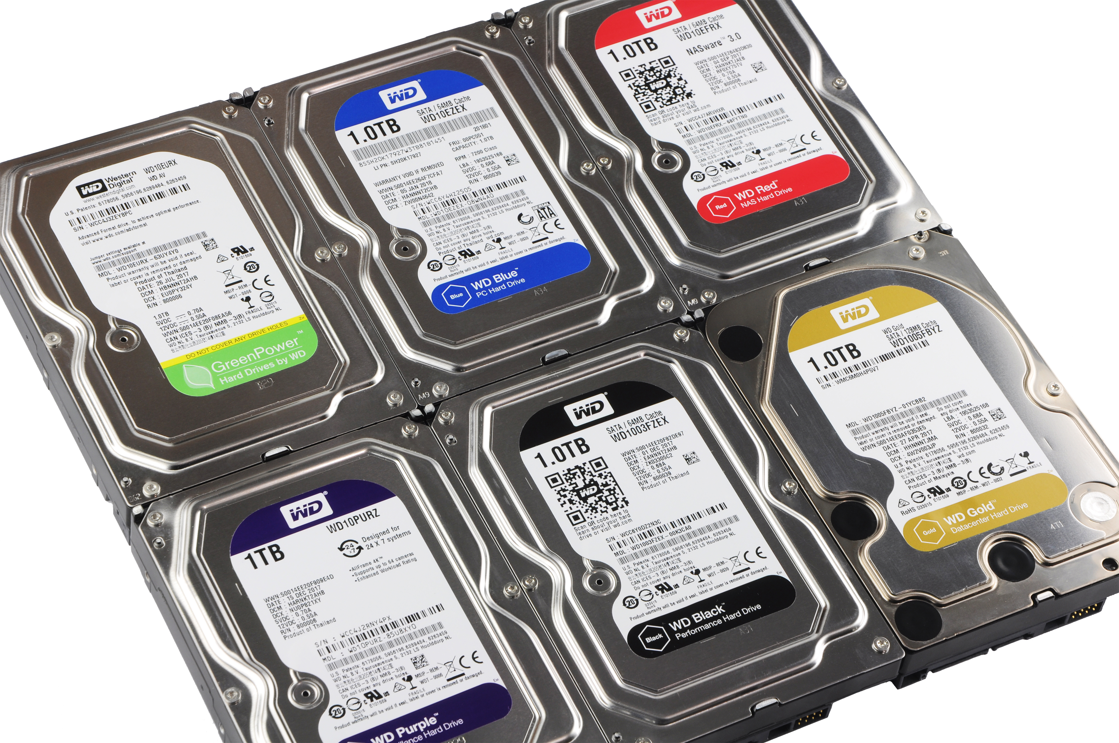 Test of six HDDs from WD: which colour is for you